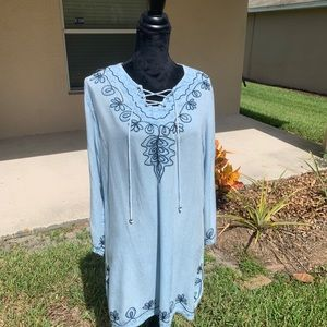 Beach By Exist Boho Tunic/ Shirt Dress